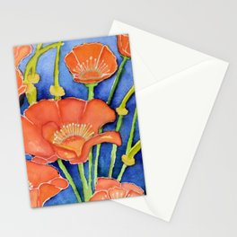 Pardon my Poppies Stationery Cards