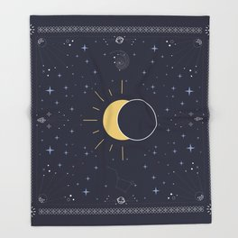 Solar Eclipse 2017 Throw Blanket
