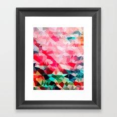Polygon Pattern II Framed Art Print
