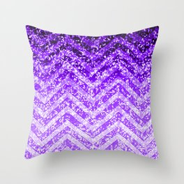 Zig Zag Sparkley Texture G229 Throw Pillow