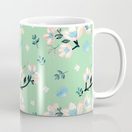 Be who you want to be - pastel flowers in mint Coffee Mug