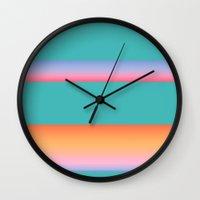 fibonacci Wall Clocks featuring Fibonacci by Grace Teaney Art