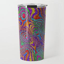 Psychedelic Rainbow Glitter Bomb Travel Mug