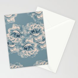 Blush Blue Peony Flower Bouquet #1 #floral #decor #art #society6 Stationery Cards