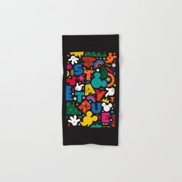 """""""Your True Shapes and Colors - Mickey Mouse"""" by Happyminders Hand & Bath Towel"""