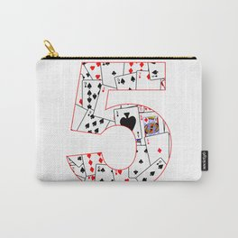 Number Five Cards Carry-All Pouch