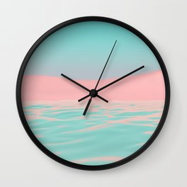 Pink Beach Wall Clock