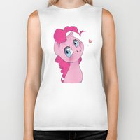 mlp Biker Tanks featuring Pinkie Pie MLP Cuteness by oouichi