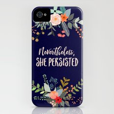 Nevertheless, She Persisted Slim Case iPhone (4, 4s)