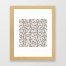 Kenna (Light Grey) Framed Art Print