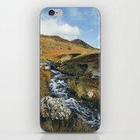 cassia beck iPhone & iPod Skins featuring Cinderdale Beck flowing below Whiteless Pike towards Crummock Water. Cumbria, UK. by liamgrantfoto
