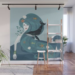 Aquatic Life of a Seaflower Wall Mural