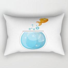 Glodfish On The Go To Freedom Rectangular Pillow