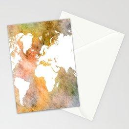 Design 63 World Map Stationery Cards