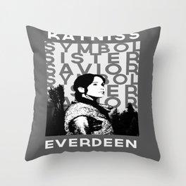 """Katniss """"Symbol Sister Savior"""" Everdeen Throw Pillow"""