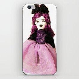 Pretty in Purple Doll iPhone Skin