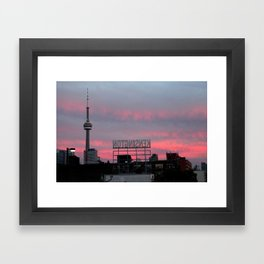 Kensington Sunset Framed Art Print