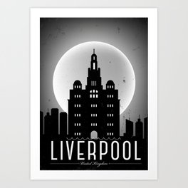 Night at Liverpool Poster Art Print