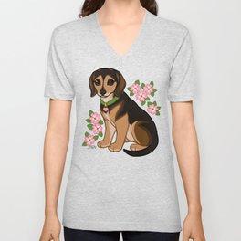 Esther Loves Dogwood Unisex V-Neck