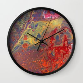 Clown with a Frown - 12 x 12 Acrylic on Canvas Wall Clock