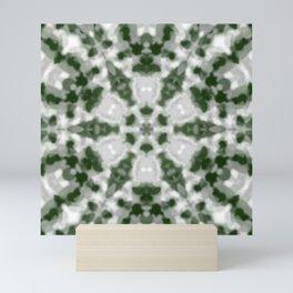 Green and White Kaleidoscope 2 Mini Art Print