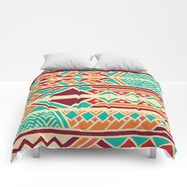 Tribal ethnic geometric pattern 038 Comforters