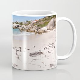 Penguins on Boulders Beach in Cape Town, South Africa Coffee Mug