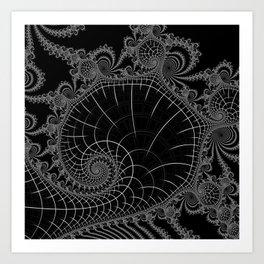 Peaks Inverted Art Print