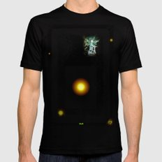 TAN SMALL Black Mens Fitted Tee