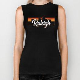 Vintage Raleigh North Carolina Sunset Skyline T-Shirt Biker Tank