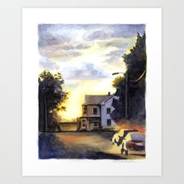 Pittsfield, Massachusetts Art Print