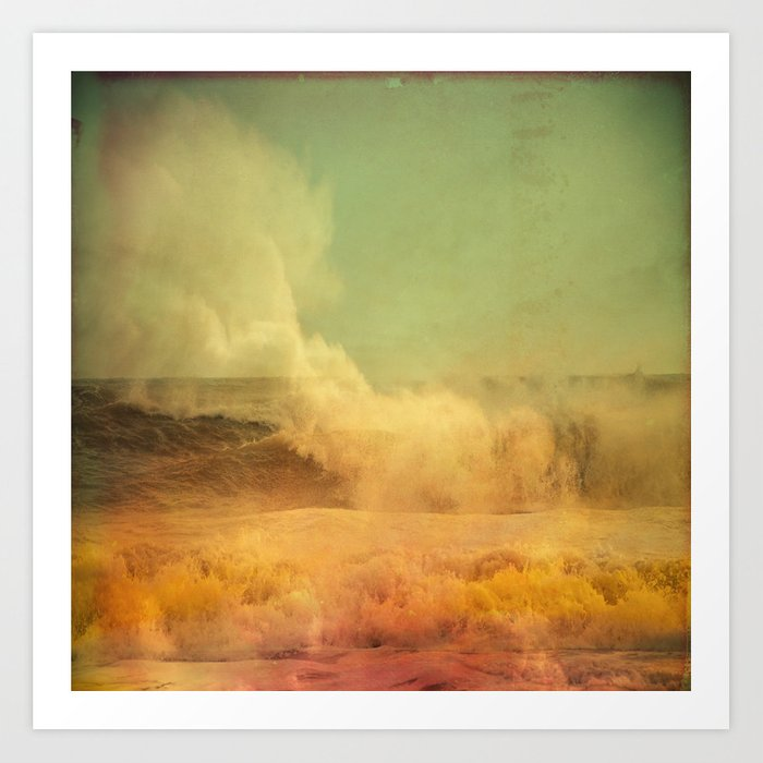 I dreamed a storm of colors Art Print