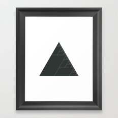 #399 Ashes of the triangle – Geometry Daily Framed Art Print