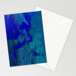 Abstraction Blue on Blue Stationery Cards