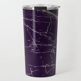 Purple Marble Crease Texture Design Travel Mug