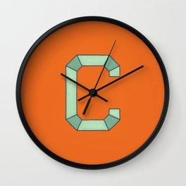 Uppercase C Wall Clock