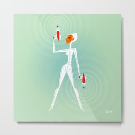 Space Girl 2004 Metal Print