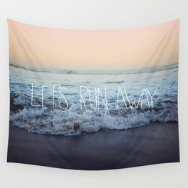 Let's Run Away x Arcadia Beach Wall Tapestry