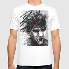 Spiral Combustion White Mens Fitted Tee MEDIUM