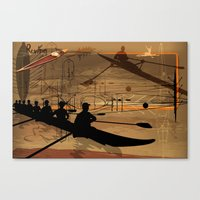 rowing Canvas Prints featuring Rowing by Robin Curtiss