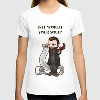 crowley T-shirts featuring Is It Worth Your Soul? Crowley SPN  by ParallelPenguins