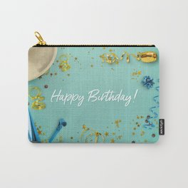 Happy Birthday Party Scene Layflat Carry-All Pouch