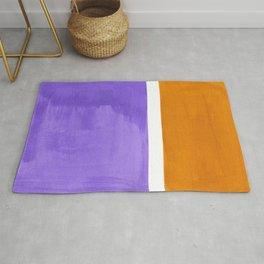 Minimalist Abstract Rothko Mid Century Modern Color Field Lavender Yellow Ochre Rug