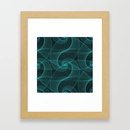 The Great Spiraling Unknown Framed Art Print