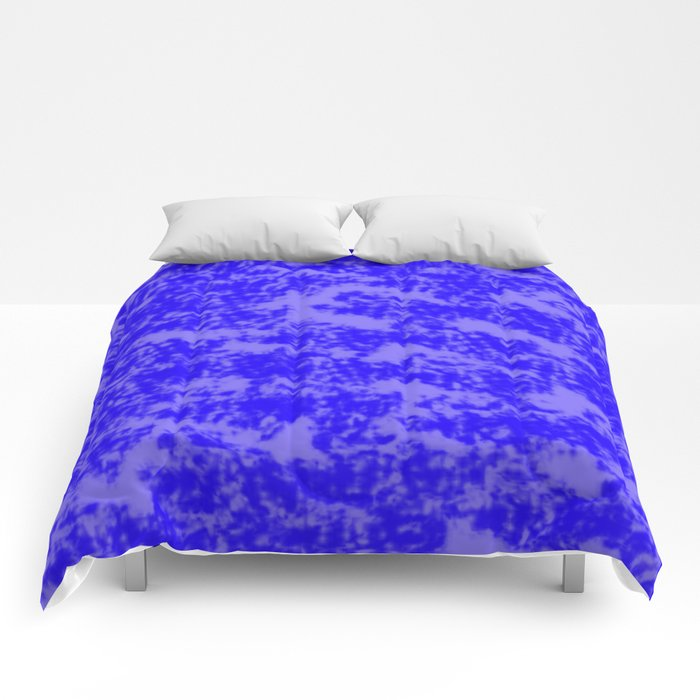 Blue Abstract Comforters