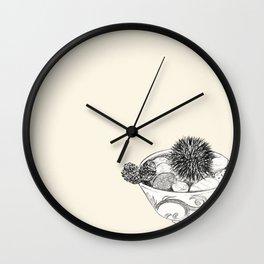 Chestnut Burr & Pottery Wall Clock