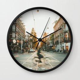 Amsterdam Bike Wall Clock