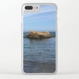 Fort Bragg ocean with rocks Clear iPhone Case