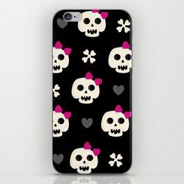 Skully Girl iPhone Skin