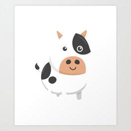 Adorable Cow & Cute Baby Calf Art Print